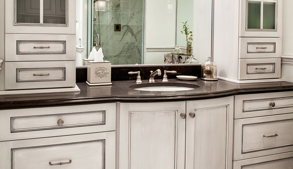 Bathroom Cabinets with Form and Function Plain & Fancy
