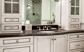 Custom Bathroom Cabinets with Form and Function