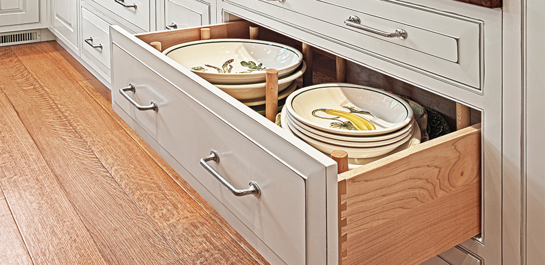 Traditional Kitchen Cabinetry with an Artistic Flair
