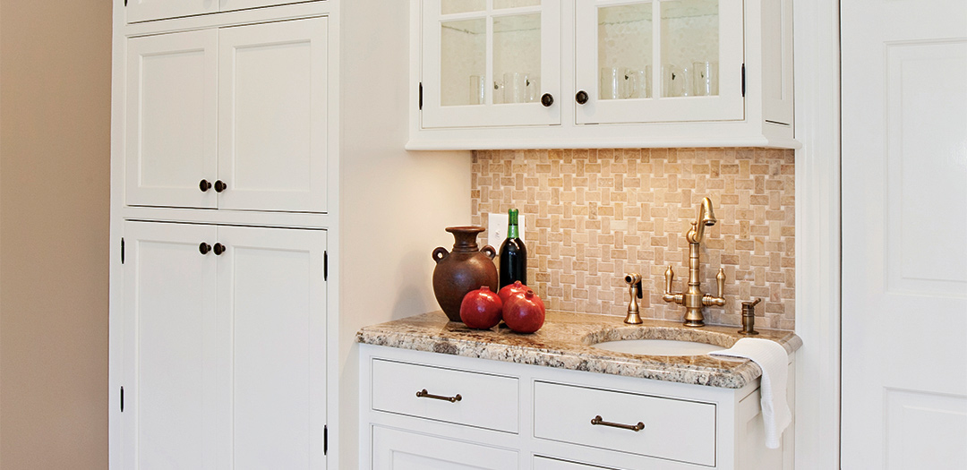 Cottage Kitchen Cabinetry Dressed in White