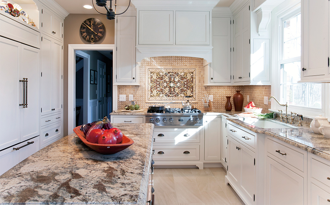 Beau Cottage Kitchen Cabinetry Dressed In White