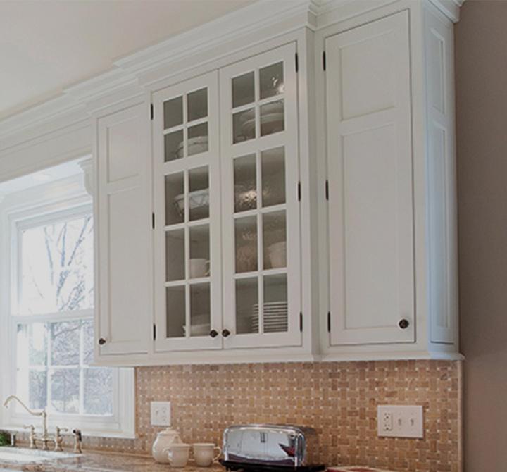 White Mullion Kitchen Cabinet Door Style