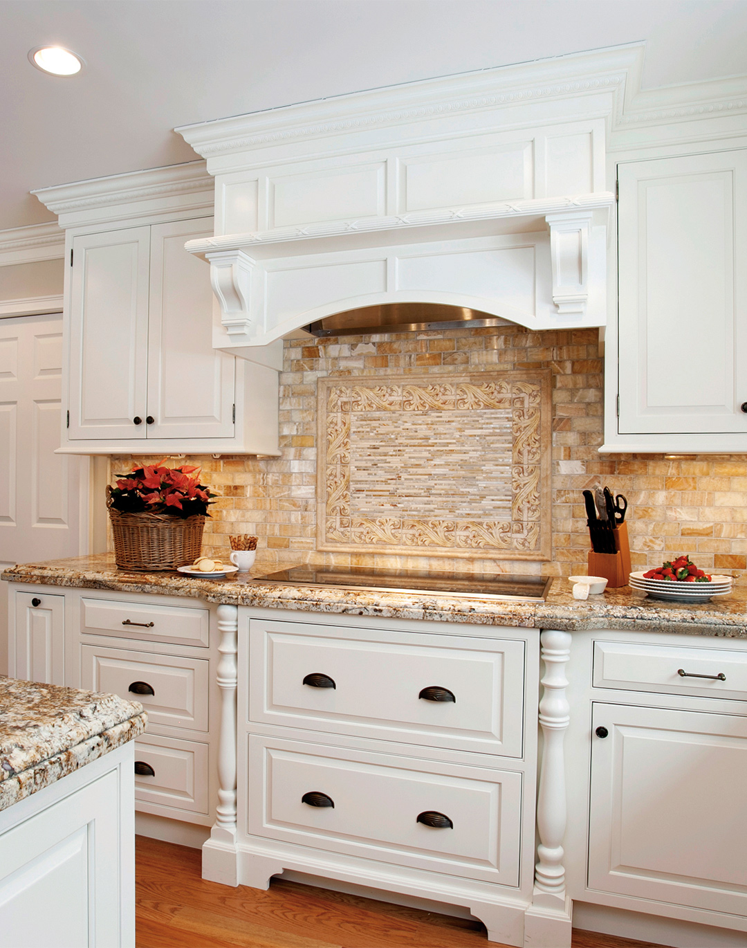 Classic white traditional kitchen plain fancy cabinetry for Buttercream kitchen cabinets