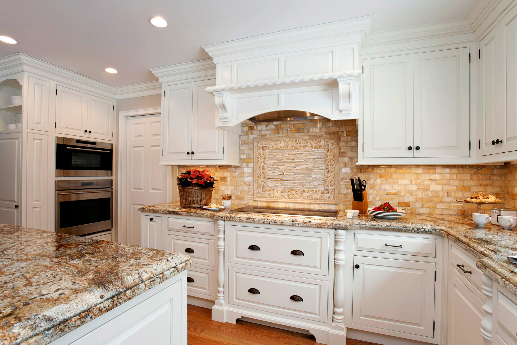 Classic white traditional kitchen plain fancy for Traditional white kitchen cabinets