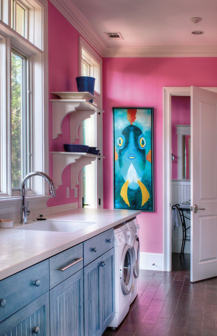 Colorful Laundry Room Cabinets | Plain & Fancy Cabinetry