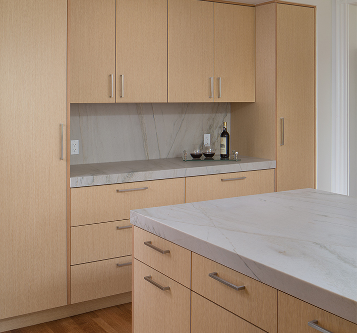 Simple And Warm Contemporary Cabinets With A