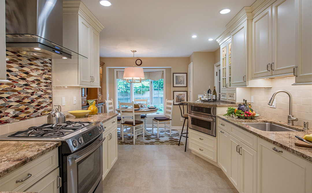 Homey Kitchen traditional kitchen cabinets with a homey ambiance | plain & fancy