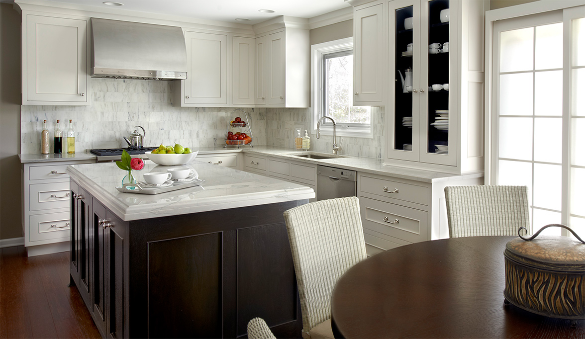 fully transitional kitchen cabinets | plain & fancy cabinetry
