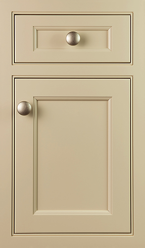 yellow cabinet door