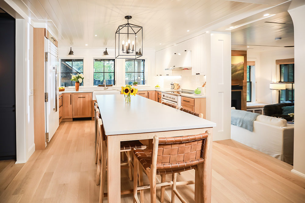 Wood Kitchen with Open Floor Plan