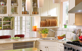 Heirloom Kitchen Cabinets with Chromatic Inspiration