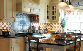 Custom Kitchen Cabinets in Country Provencal