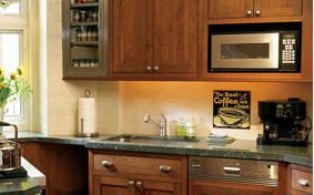 Stylishly Sleek Kitchen Cabinets